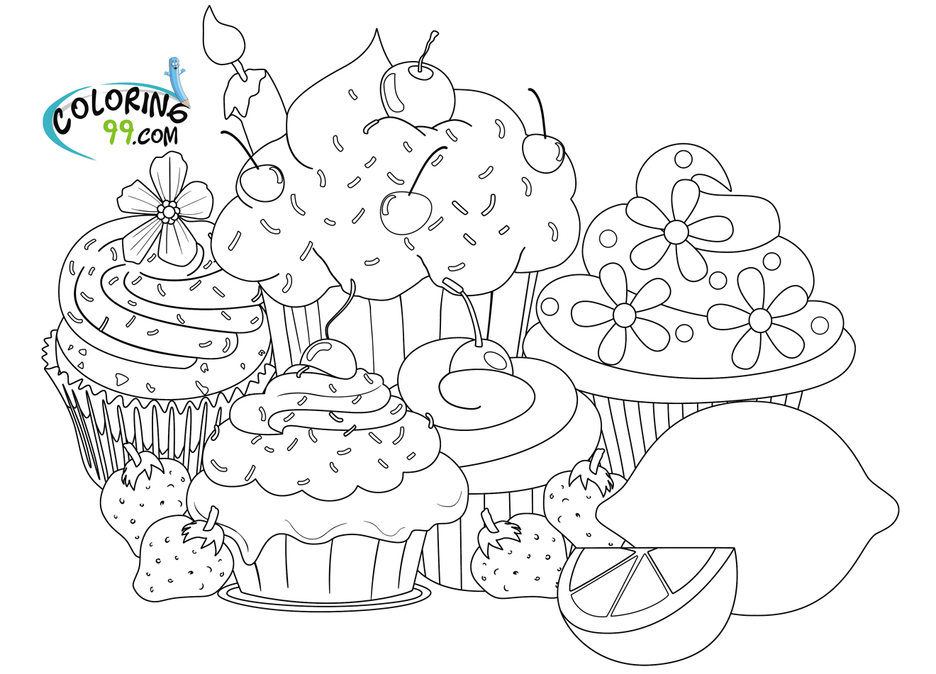 Cupcake Coloring Pages | Minister Coloring avec Coloriage De Cupcake