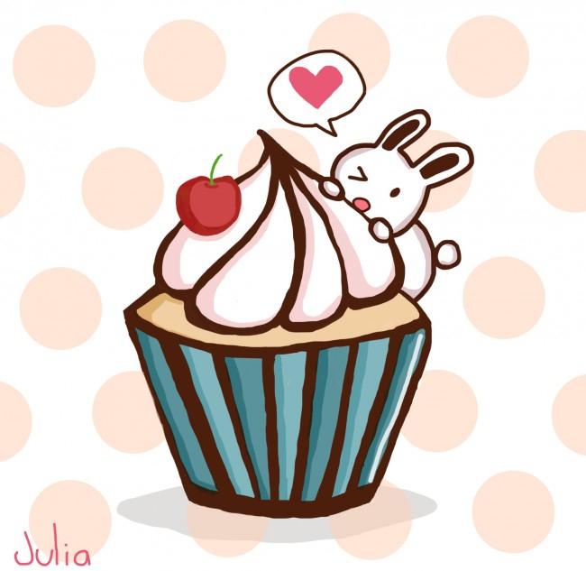 Cupcake - Dessin De Julia Posté Sur Tvhland dedans Cup Cake Dessin