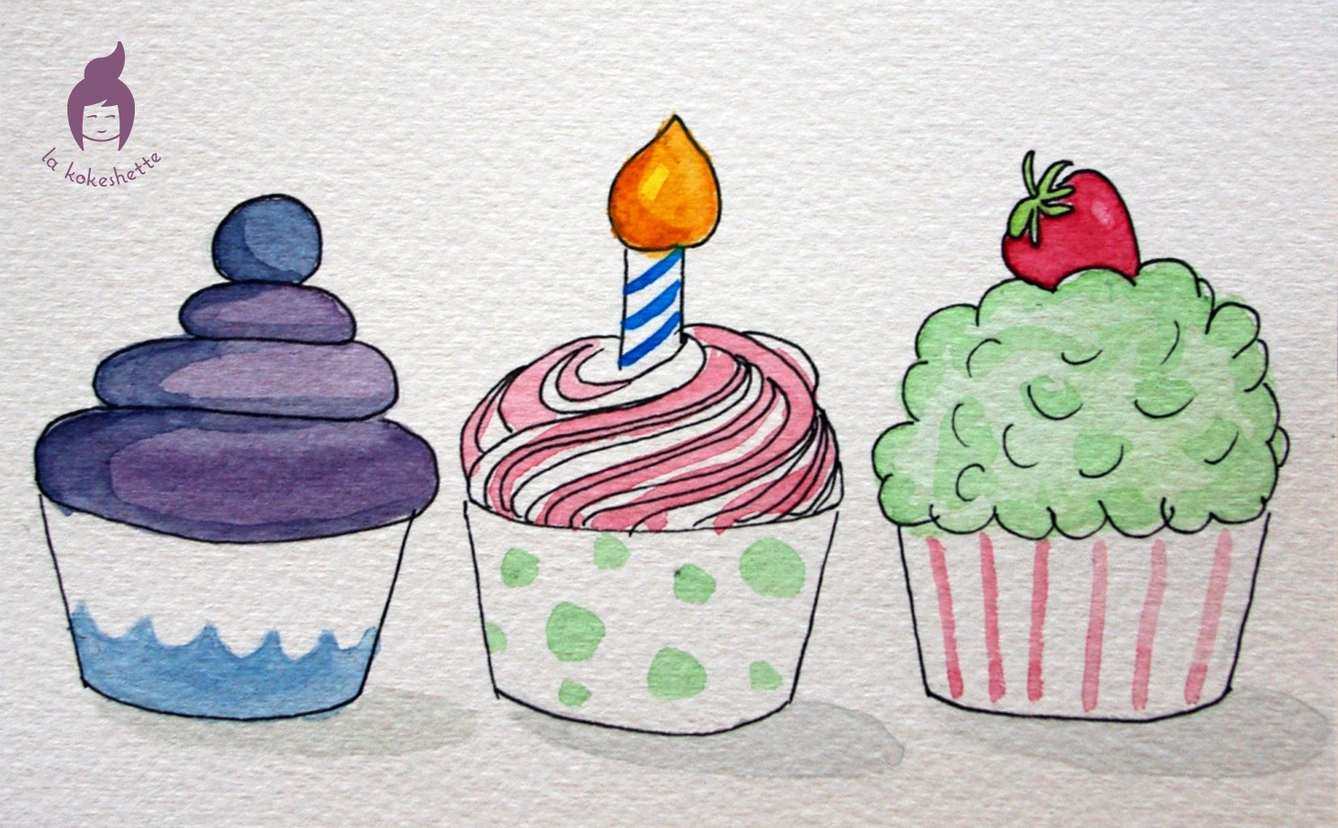 Cupcakes À Croquer | Le Blog De La Kokeshette serapportantà Cup Cake Dessin
