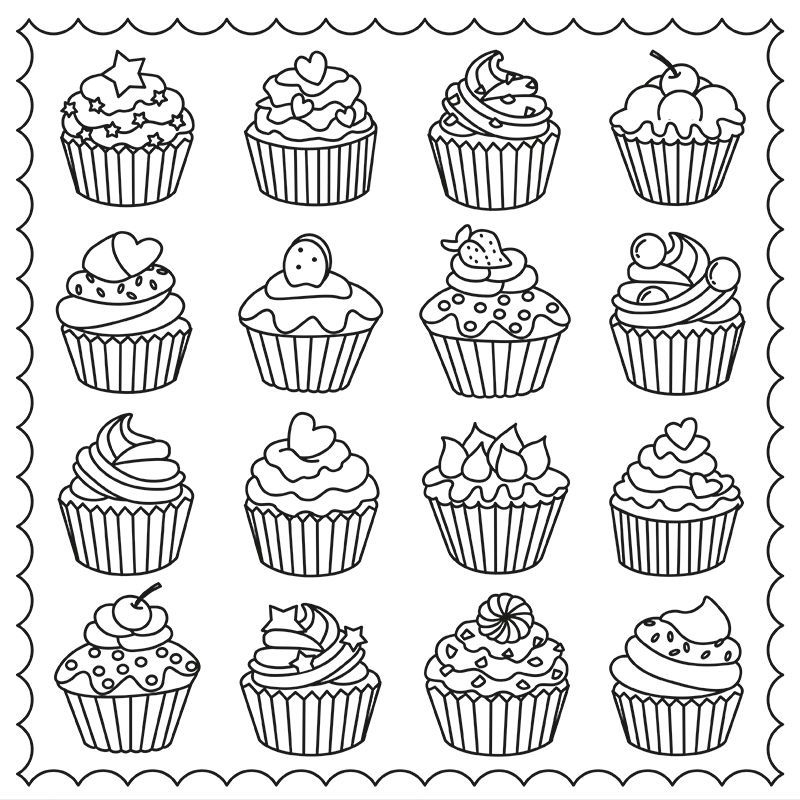 Cupcakes Colouring Page Coloring Page More Pins Like This encequiconcerne Coloriage De Cupcake