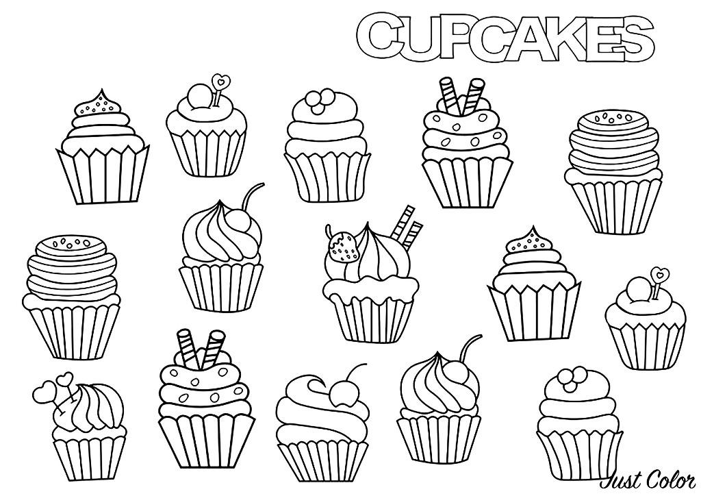 Cupcakes Doodle - Cupcakes Adult Coloring Pages dedans Coloriage De Cupcake