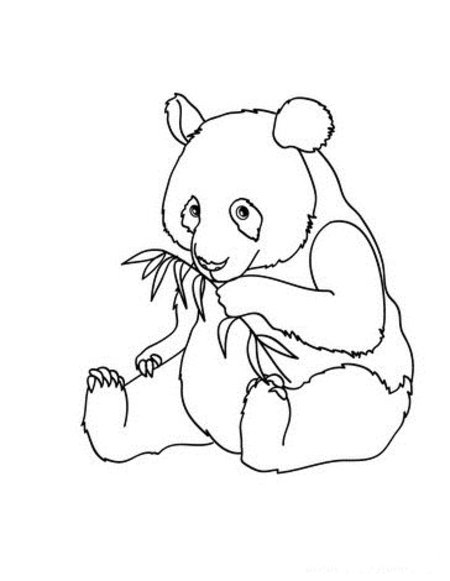 Cute Baby Panda Coloring Pages For Kids >> Disney Coloring encequiconcerne Panda A Colorier