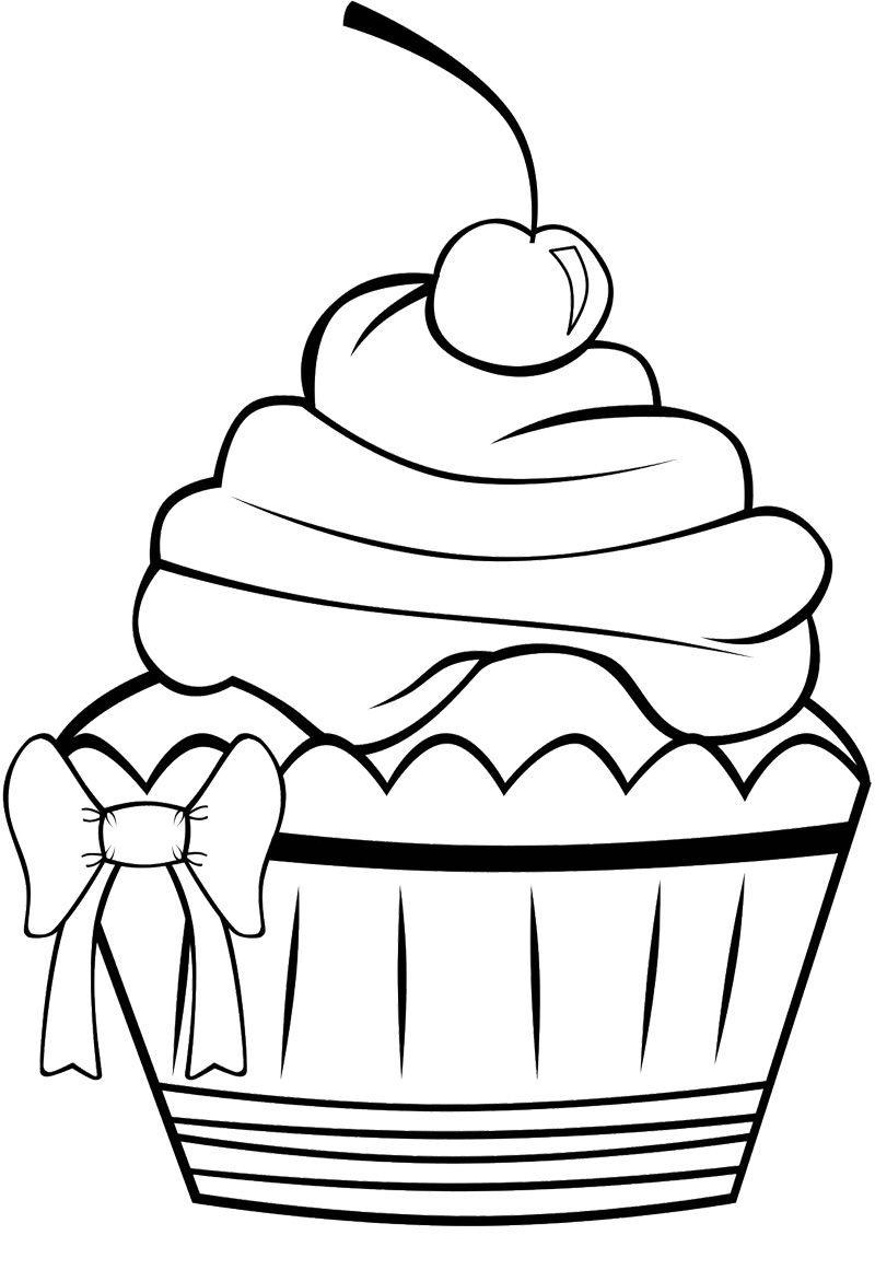 Cute Cupcake Coloring Page | Riscos Para Pintura, Cupcake tout Coloriage De Cupcake