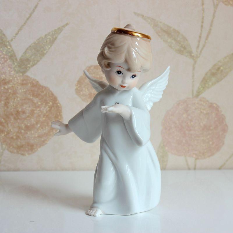 Cute Porcelain Little Angel Figurine Ceramic Angel destiné Little Angel