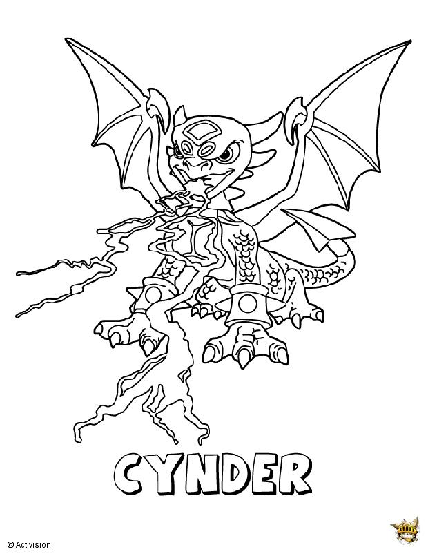 Cynder Crache Est Un Coloriage De Skylanders intérieur Coloriage De Skylanders Giants