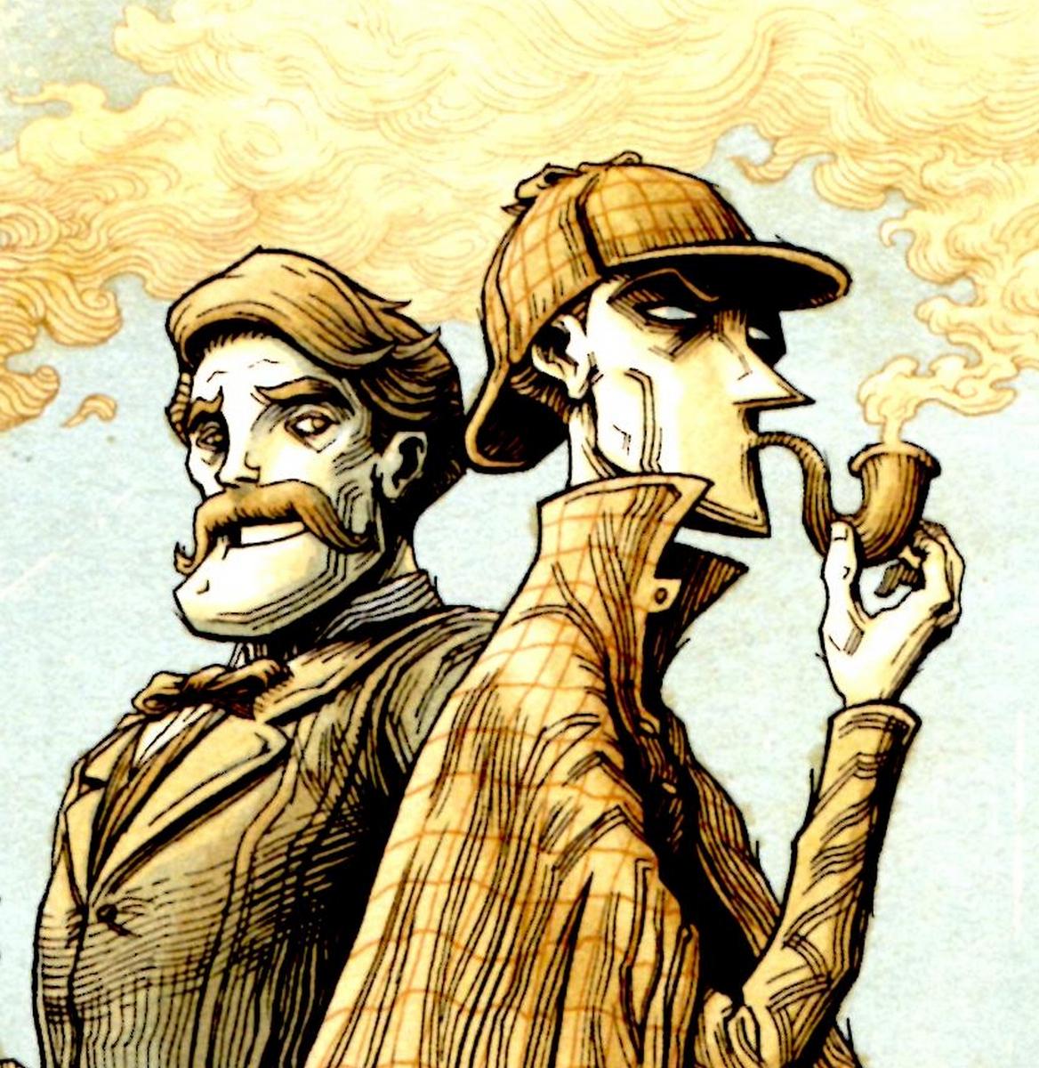 Dans La Tête De Sherlock Holmes L'Affaire Du Ticket intérieur Dessin De Sherlock Holmes