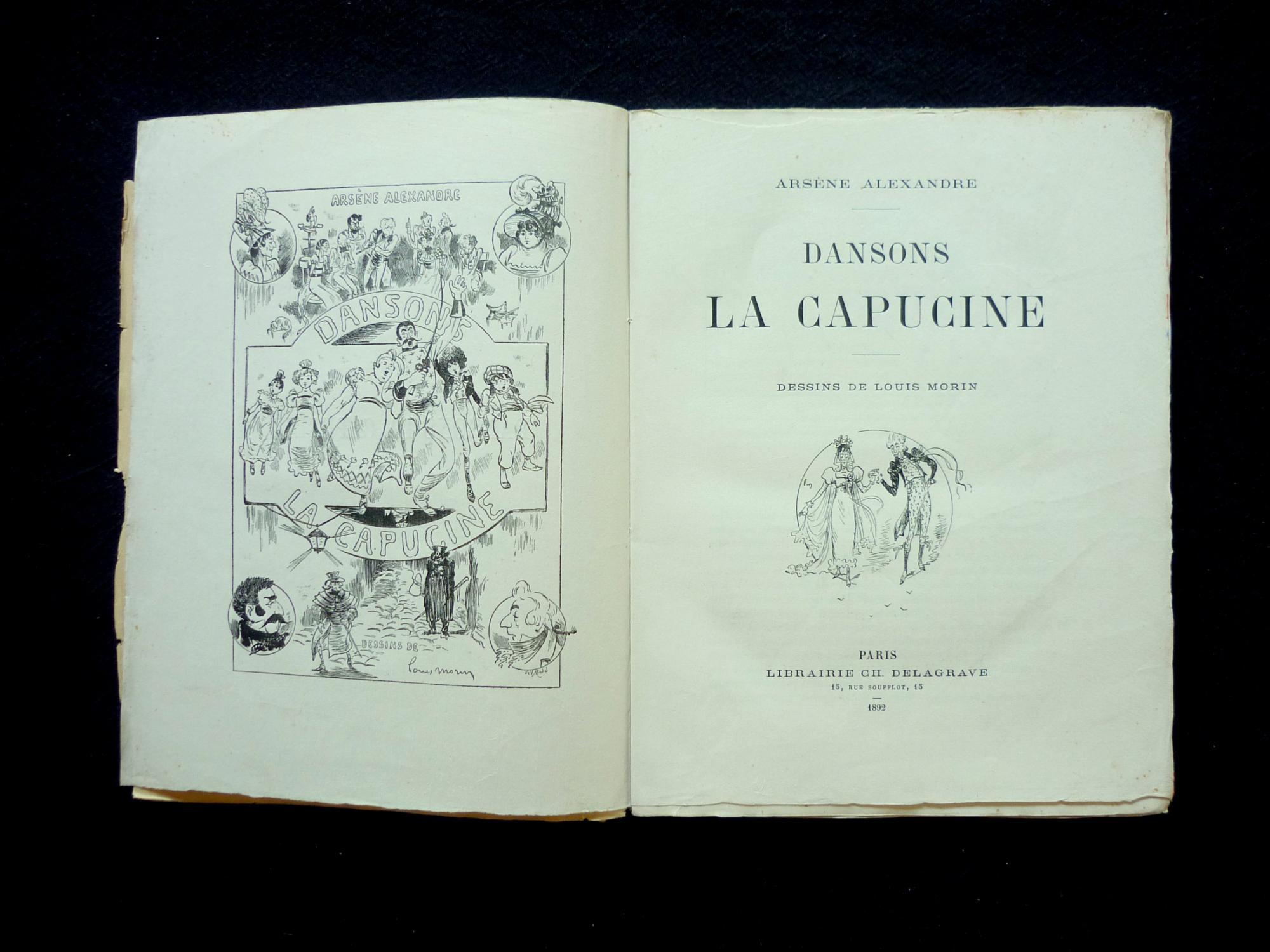 Dansons La Capucine By Alexandre, Arsène: Bon Couverture destiné Danson La Capucine