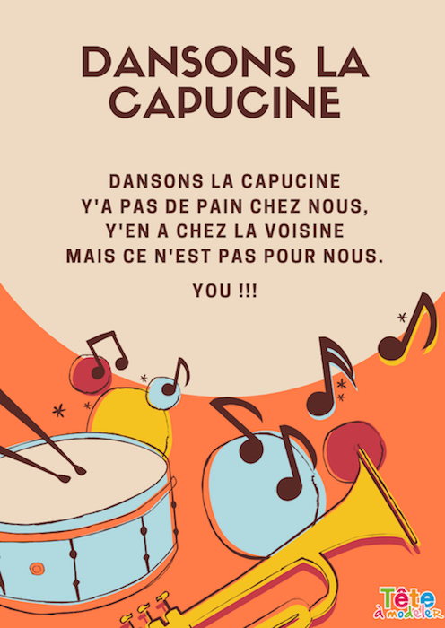 Dansons La Capucine - Paroles De Chanson - Tête À Modeler tout Danson La Capucine