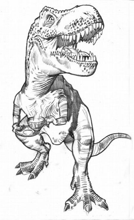 De Coloriages: Coloriage Dinosaure T Rex intérieur Coloriage Dinosaure Tyrannosaure