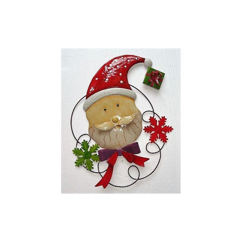 Decoration De Noel - Tete De Pere Noel 41 X 3 X 49 Cm concernant Tete De Pere Noel