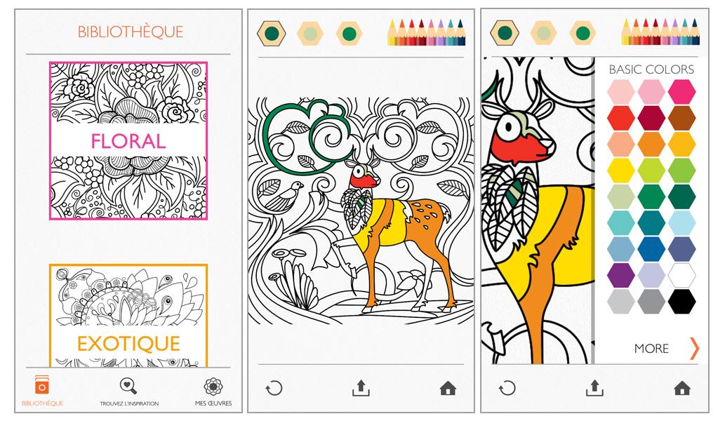 Découvrez Colorfy, Une Appli De Coloriage Pour Adulte Sur destiné Coloriage Sur Portable