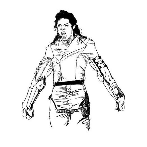 .. dedans Coloriage De Michael Jackson
