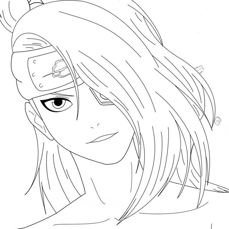 Deidara Smiling | Naruto Art, Deidara Akatsuki, True Art dedans Coloriage De Naruto