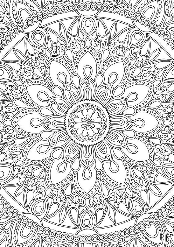 Delightful Mandala - Colour With Me Hello Angel - Coloring à 100 Greatest Mandala Coloring Book: