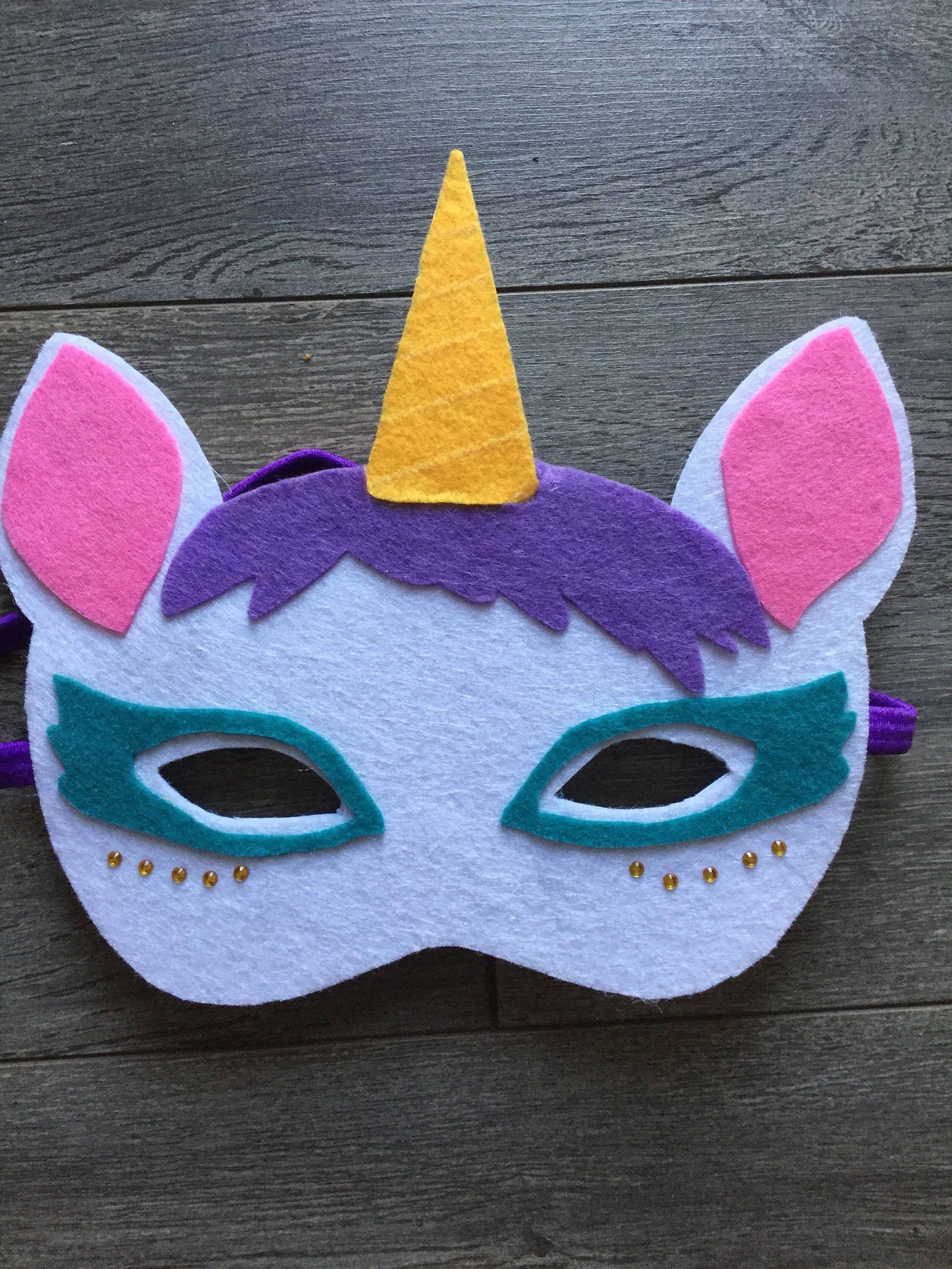 Delivery Included! Or To Play For Halloween Felt Unicorn serapportantà Masque Enfant A Imprimer