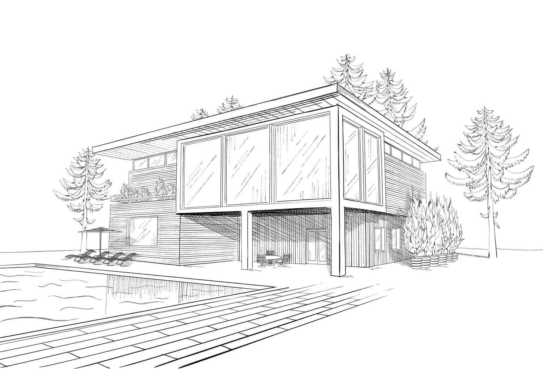 Der Weg Zum Eigenen Holzhaus - Heimhelden à Dessin De Maison Facile