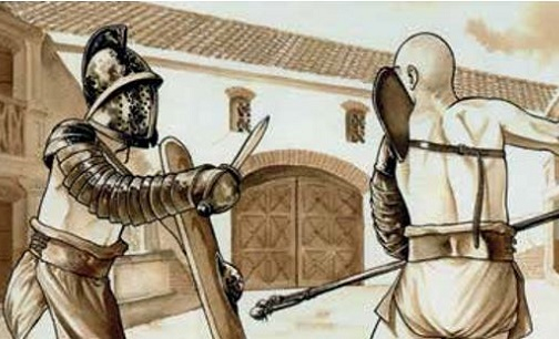 Des Auteurs Bd Dessinent Des Gladiateurs concernant Gladiateur Dessin