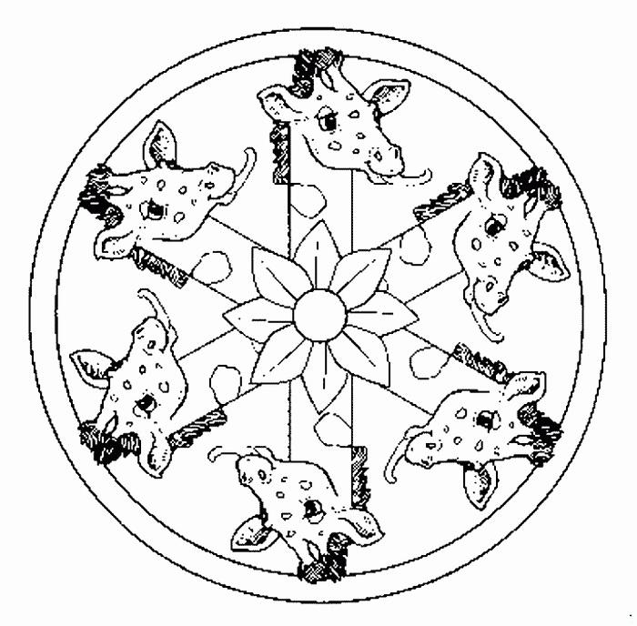 Des Coloriages Mandala 10 Pour Enfants avec Mandala Pour Petit
