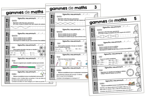 Des Gammes De Maths - Mélimélune pour Chaque Jour Compte Rituel Anglais Cm