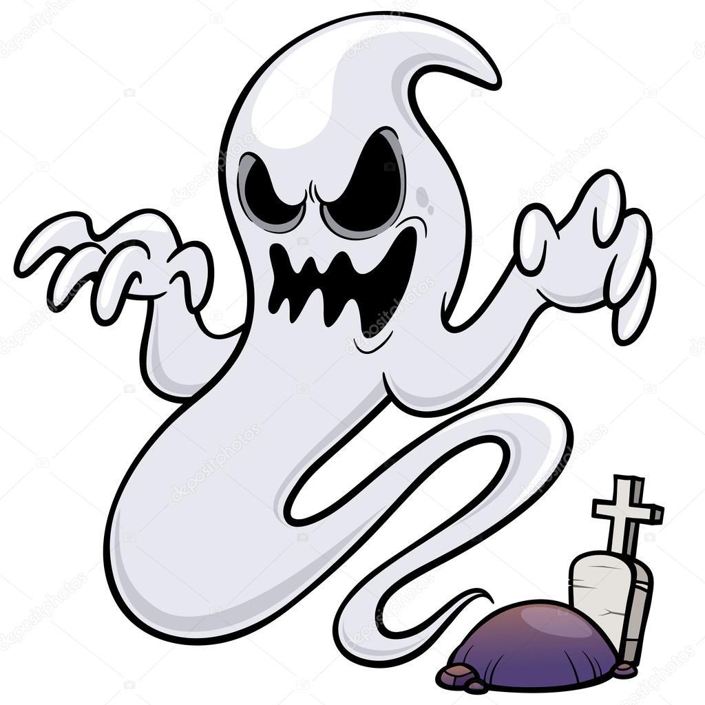 Desenho Animado Fantasma — Vetor De Stock © Sararoom #40354527 serapportantà Dessin Fantome