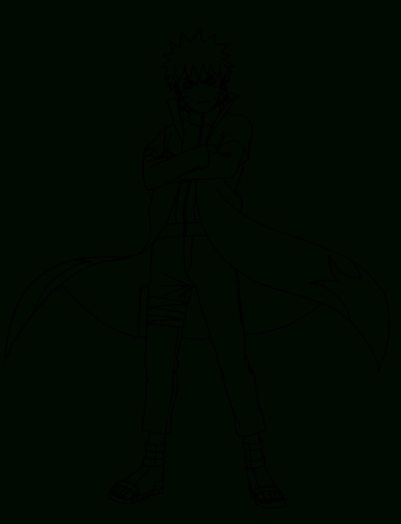 Desenho Para Colorir Naruto Hokage pour Coloriage De Naruto