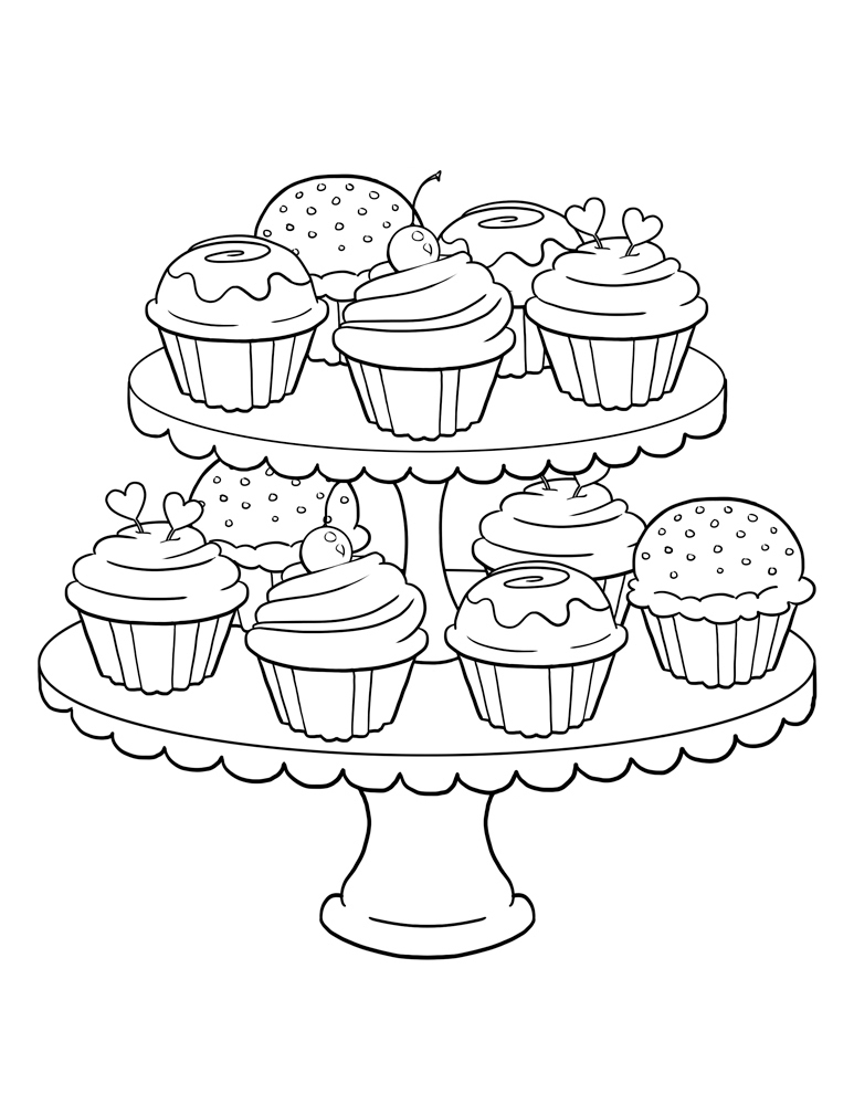 Desenhos - Desenho Infantil Para Colorir De Cupcake tout Coloriage Cupcake A Imprimer