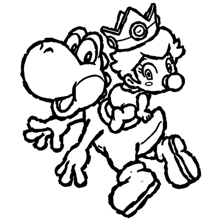Dessin À Colorier A Imprimer Yoshi Et Toad serapportantà Dessin De Yoshi