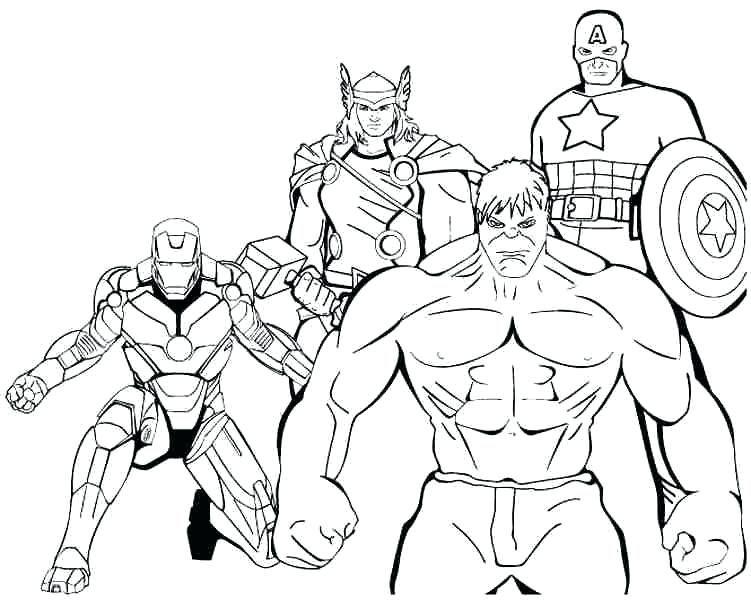 Dessin A Colorier Avengers Super Heros 14 Coloriages A dedans Coloriage En Ligne Hulk