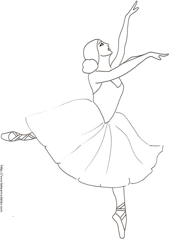 Dessin À Colorier Danse En Ligne concernant Coloriage Danseuse A Imprimer Gratuit
