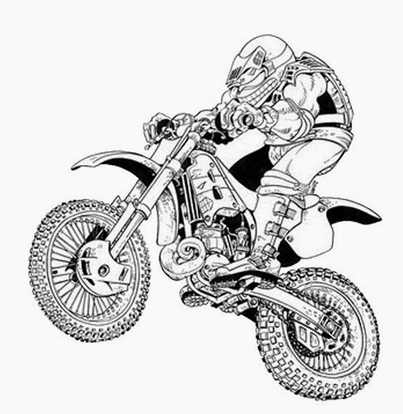 Dessin A Colorier De Moto à Coloriage Moto Cross A Imprimer Gratuit