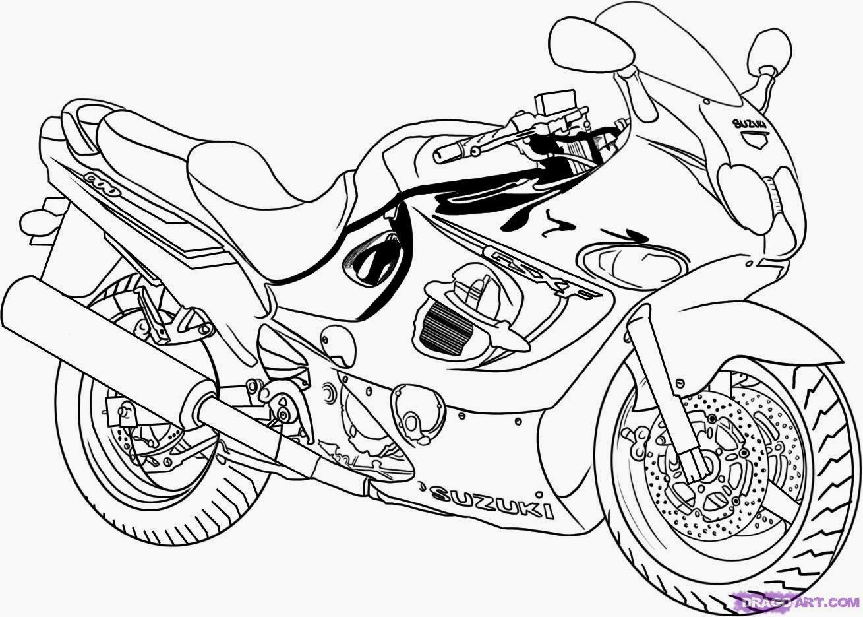 Dessin A Colorier De Moto concernant Coloriage Moto De Course A Imprimer Gratuit