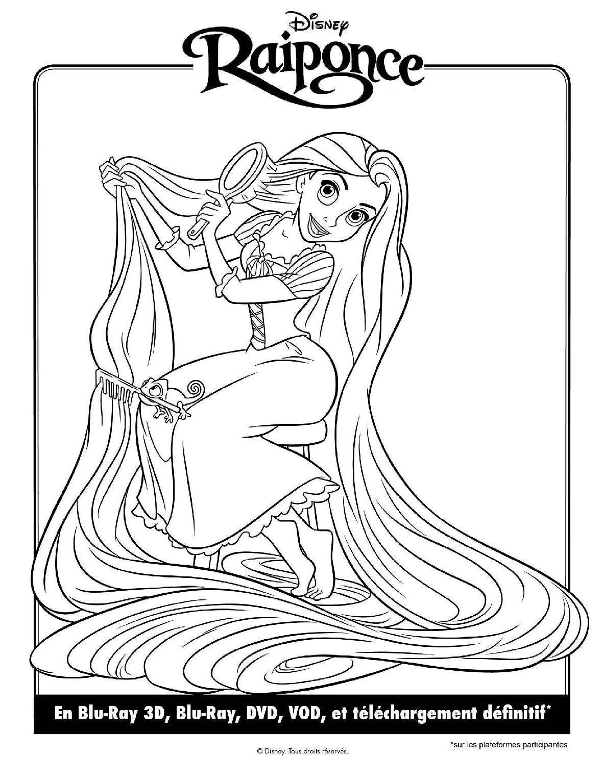 Dessin À Colorier Fille Princesse Raiponce tout Princesse À Colorier À Imprimer