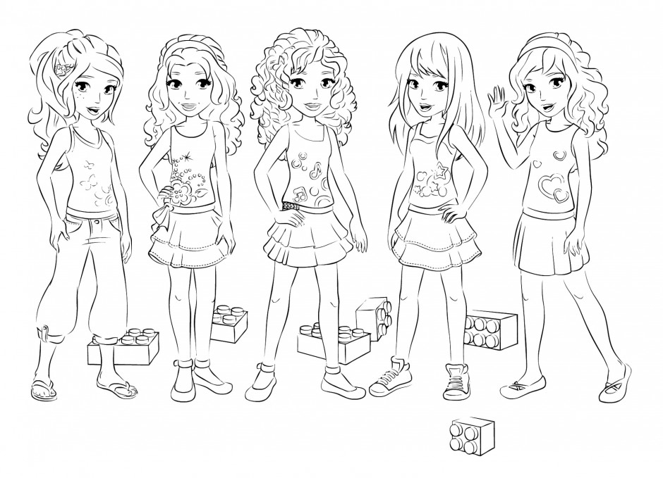 Dessin A Colorier Lego Friends destiné Dessin Animé Lego Friends