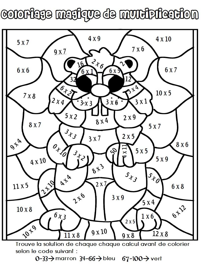Dessin À Colorier Magique Cm2 Multiplication En Ligne intérieur Coloriage Magique Multiplication Ce2 À Imprimer