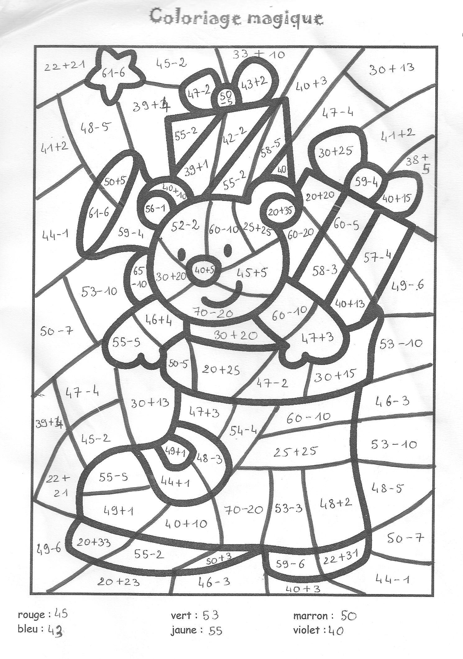 Dessin à Colorier Magique Noel Maternelle Gs serapportantà Coloriage Magique Gs À Imprimer
