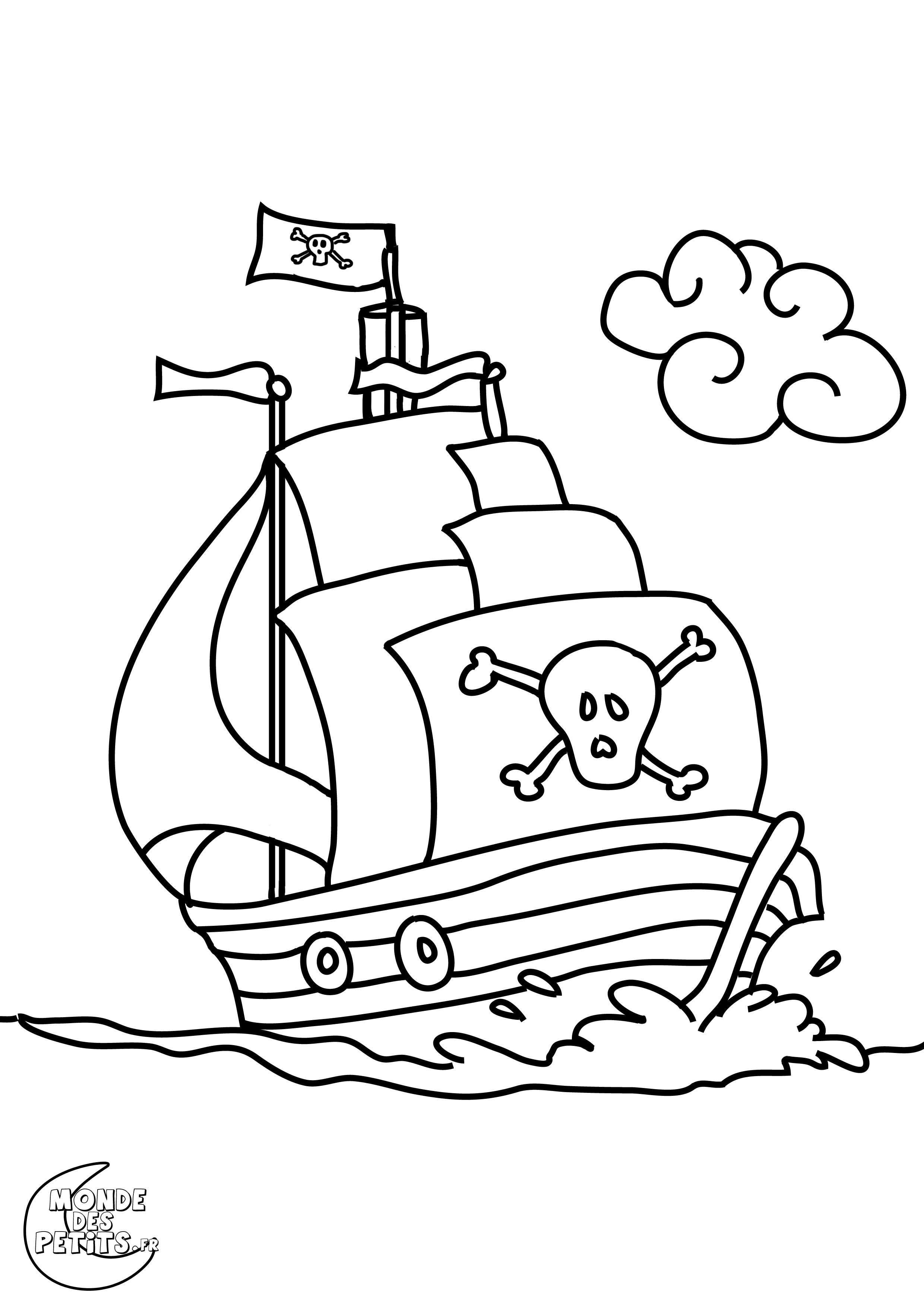 Dessin À Colorier Pirate Gratuit serapportantà Dessin A Colorier