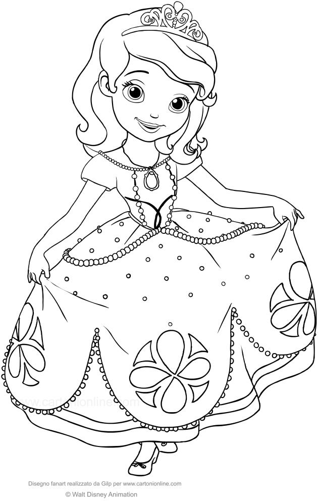 Dessin À Colorier Princesse Sofia - 1Stepclinic destiné Coloriage Princesse Ambre