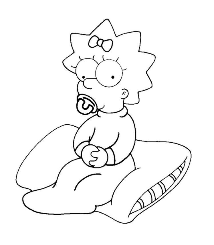 Dessin À Colorier Simpson En Couleur pour Coloriage Simpson A Imprimer Gratuit