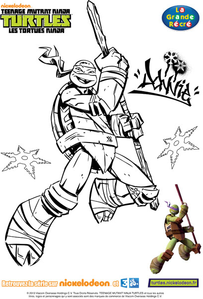 Dessin À Colorier Tortue Ninja Shredder tout Coloriage Tortue Ninja Michelangelo