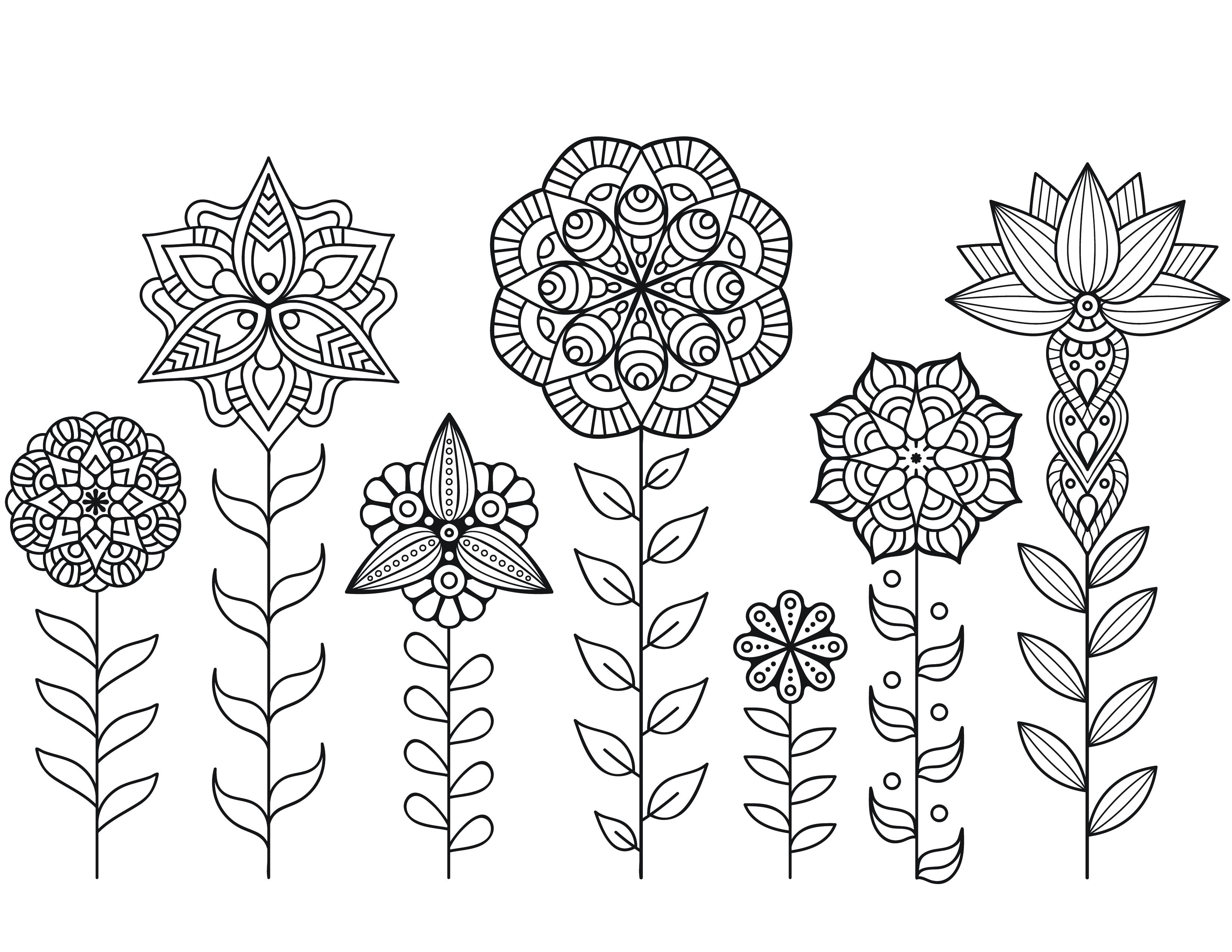 Dessin A Imprimer De Mandala Fleurs Automne - Artherapie.ca destiné Coloriage Mandala Disney À Imprimer Gratuit