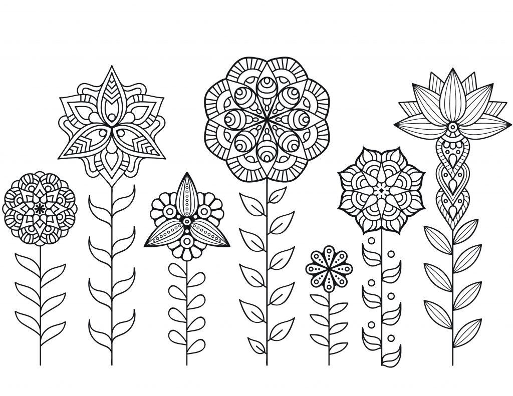 Dessin A Imprimer De Mandala Fleurs Automne - Artherapie.ca tout Coloriage Herisson A Imprimer Gratuit
