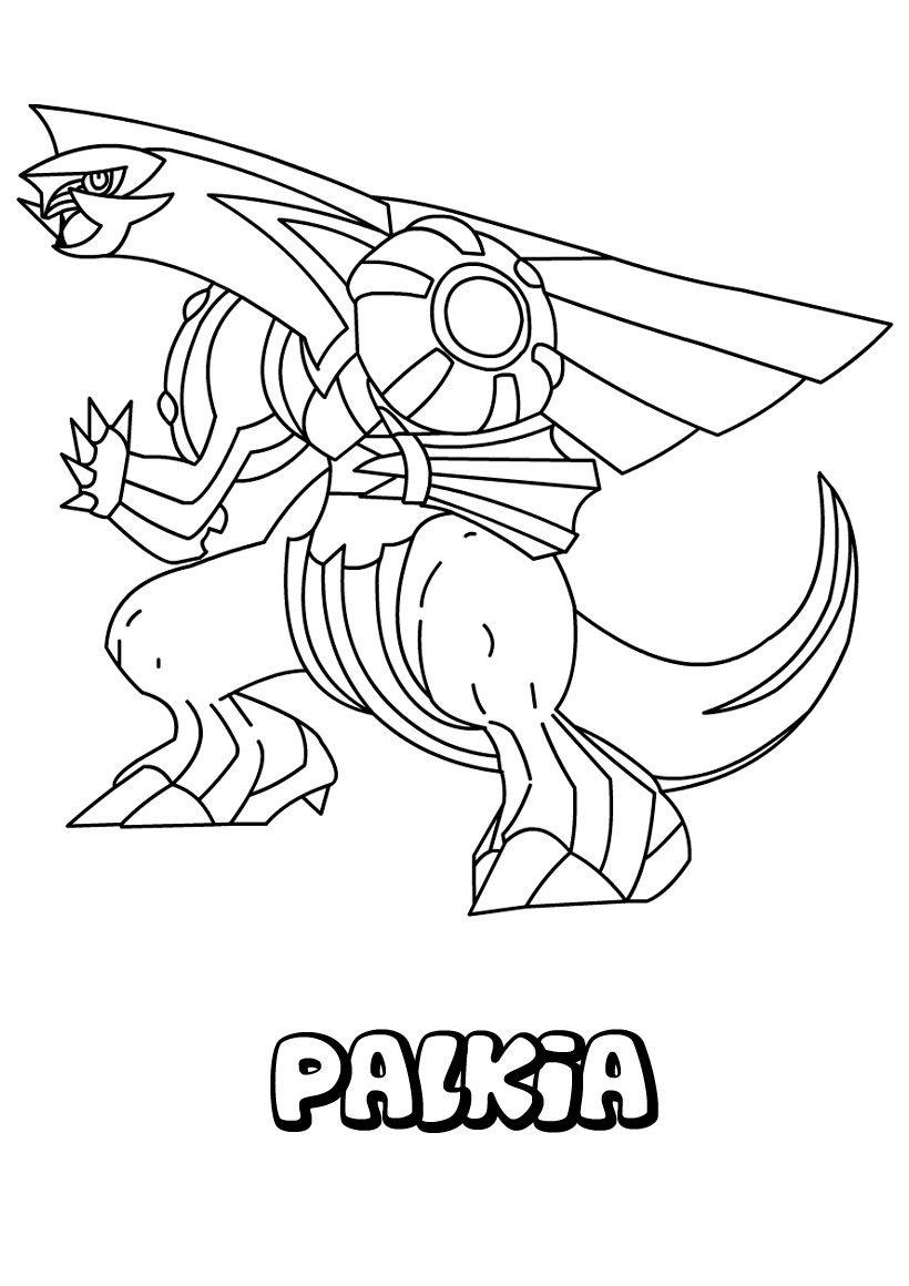 Dessin À Imprimer Du Pokemon Palkia | Coloriage Pokemon destiné Modele De Pokemon A Dessiner