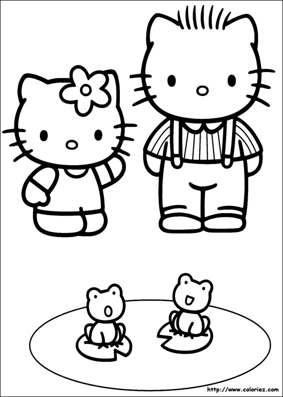 Dessin À Imprimer Hello Kitty intérieur Coloriage Hello Kitty Coeur
