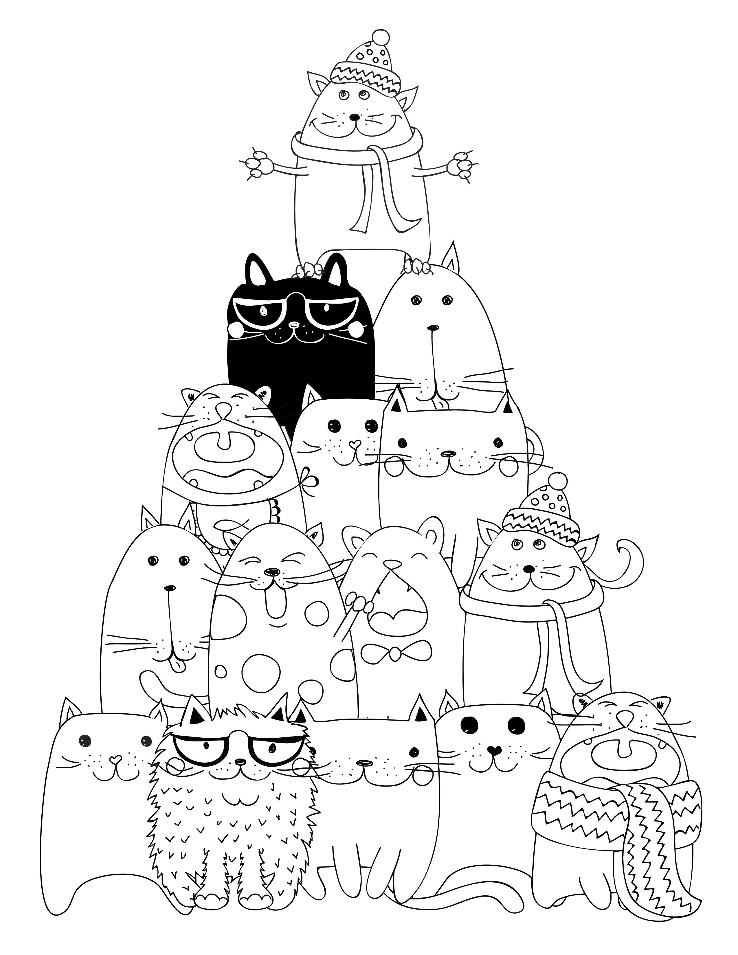 Dessin À Imprimer Pyramide Chat Coloriage - Artherapie.ca à Coloriage Cactus A Imprimer Gratuit