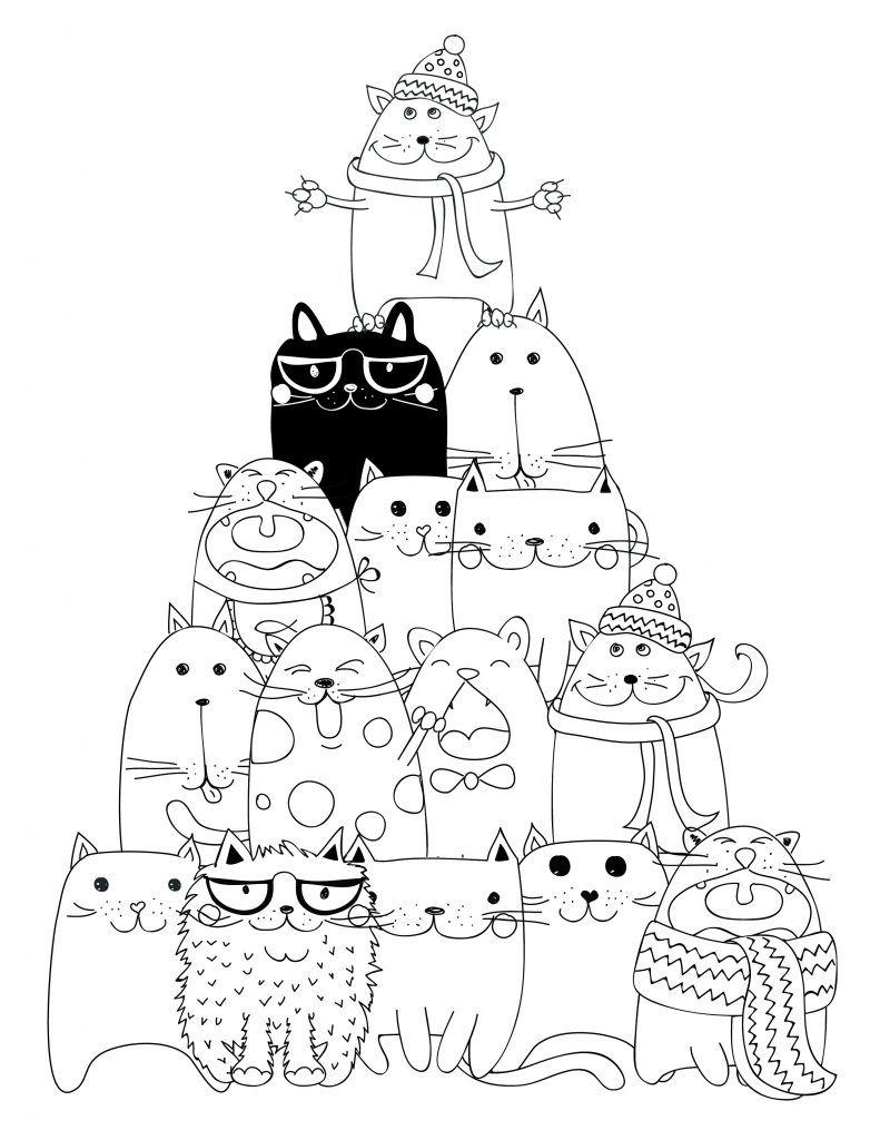 Dessin À Imprimer Pyramide Chat Coloriage | Cat Coloring encequiconcerne Dessin A Imprimer De Chat