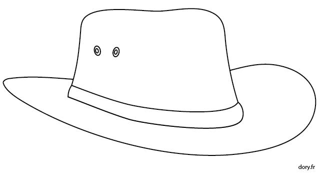 Dessin À Imprimer : Un Chapeau De Cowboy | Chapeau Cowboy concernant Dessin Chapeau De Cowboy