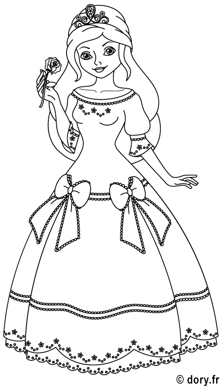Dessin À Imprimer : Une Princesse … | Coloriage, Dessin À destiné Coloriage Chateau Princesse