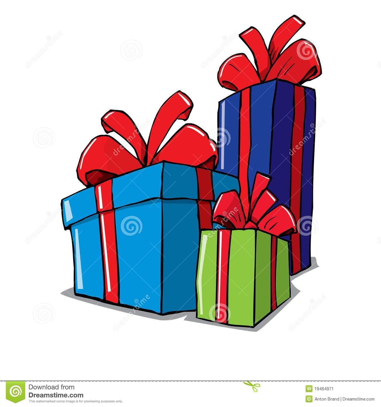 Dessin Anim De Groupe De Cadeaux De No L Image Stock – 3 tout Dessin Cadeau De Noel