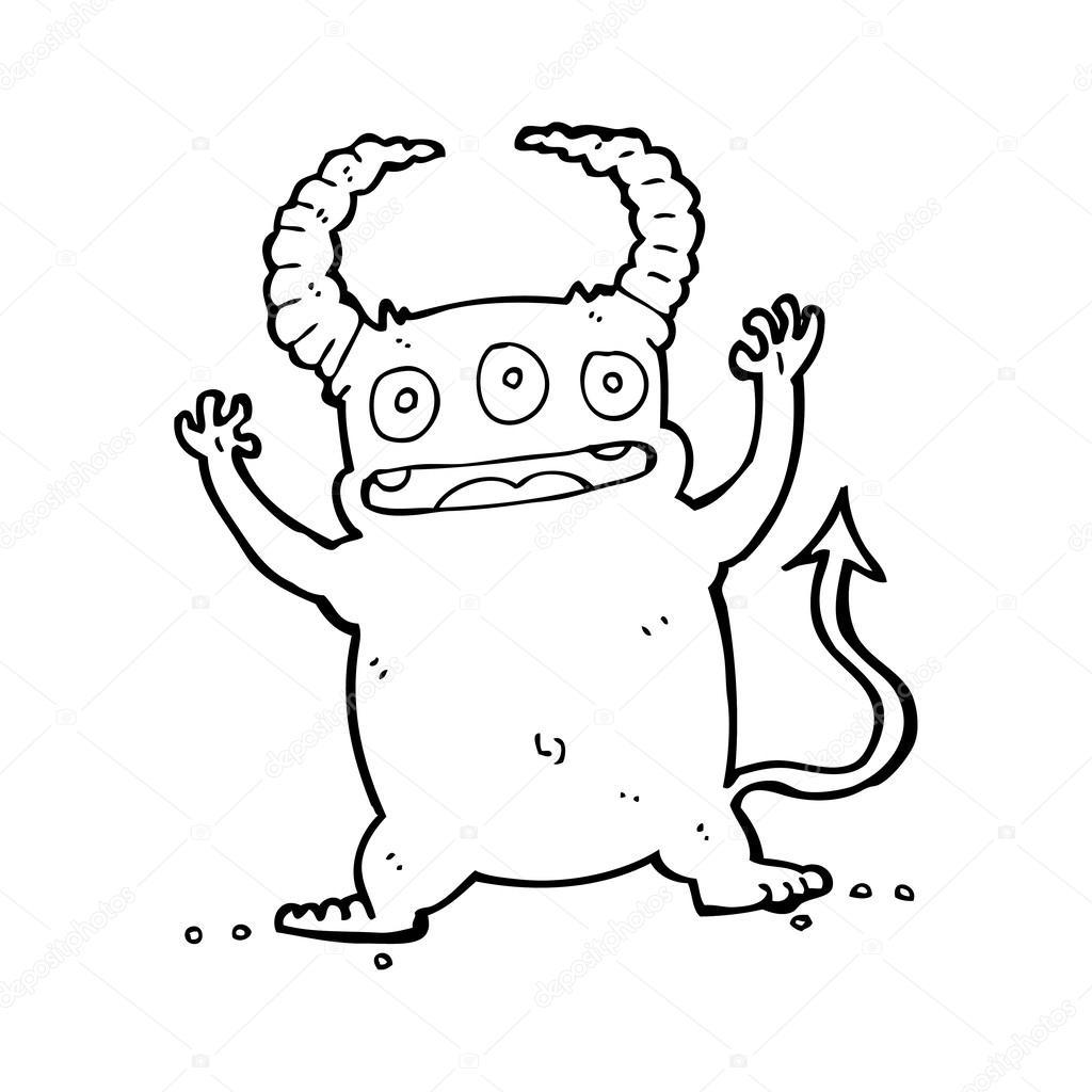 Dessin Animé Petit Diable — Image Vectorielle tout Dessin Du Diable
