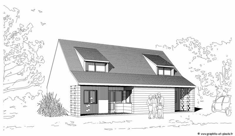 Dessin Architecture Maison - L'Habis avec Dessin De Maison Moderne